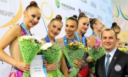 Золотые медали казахстанских гимнасток вручили спортсменкам Узбекистана