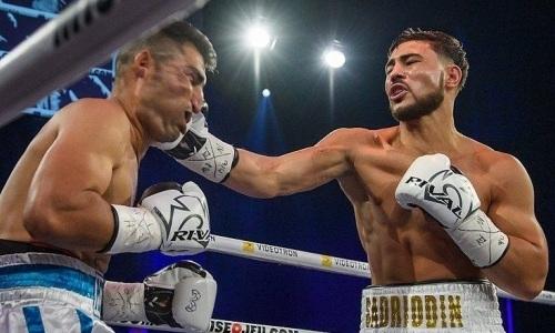Два нокдауна и нокаут. Видео победного боя Садриддина Ахмедова за 90 секунд
