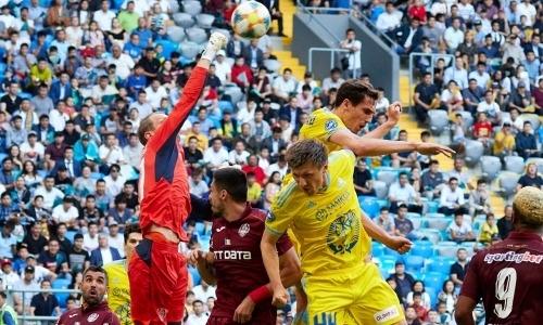 «Астана» — «ЧФР Клуж» 1:0. Неуверенно начали, но пришли в себя и победили