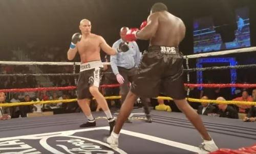 Видео полного боя казахстанца Ивана Дычко с нокаутом американца во втором раунде