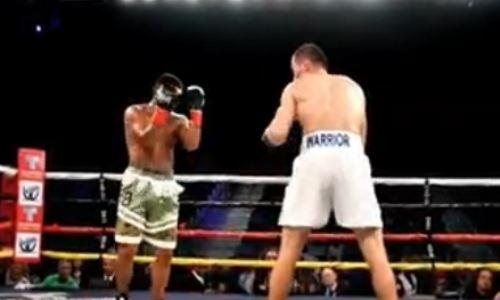 Казахстанский нокаутер показал видео с победного боя в США