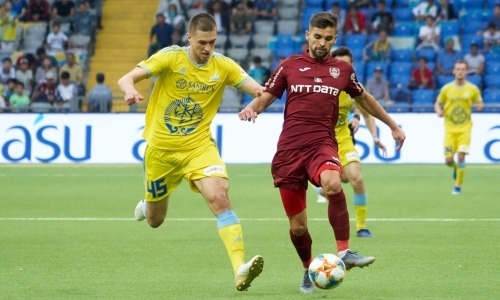 «Астана» открыла счет на четвертой минуте ответного матча с «ЧФР Клуж»