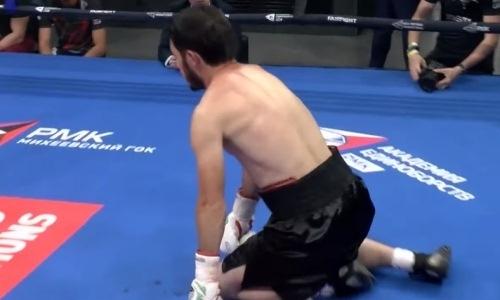 Таджикский боксер в Екатеринбурге быстро нокаутировал россиянина. Видео