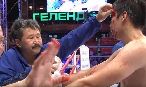Форс-мажор стоил небитому казахстанскому боксеру первого поражения в карьере. Видео