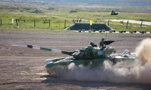 Казахстанская команда готовится принять участие в «Танковом биатлоне» в Москве
