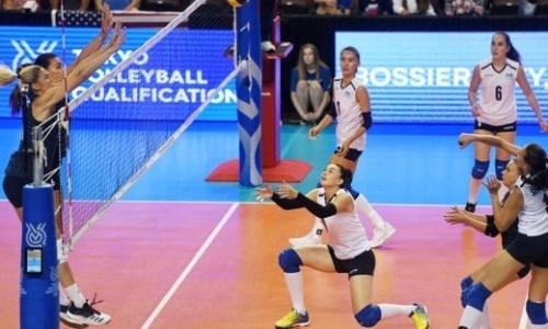 Казахстанские волейболистки уступили в первом матче олимпийского квалификационного турнира