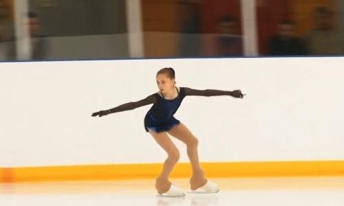13-летняя ученица тренера Турсынбаевой исполнила четверной тулуп на контрольных прокатах