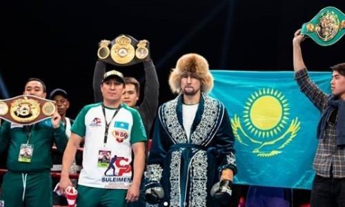 Небитые казахстанцы показали эмоциональные фото и видео после побед в титульных боях