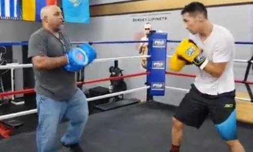 В Сети появилось видео финальной подготовки Алимханулы с тренером Ковалева к важному бою