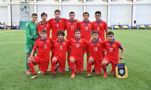 Сборная Армении до 17 лет уступила сверстникам из Таджикистана в Кубке Президента РК