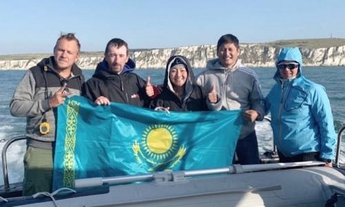 В Уральске встретили первую казахстанку, переплывшую Ла-Манш