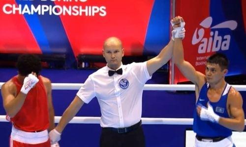 Видео победного боя трехкратного чемпиона Казахстана над азербайджанцем на старте ЧМ-2019 по боксу