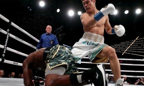 Видео полного боя с нокдауном и нокаутом Данияром Елеусиновым небитого американца в первом раунде