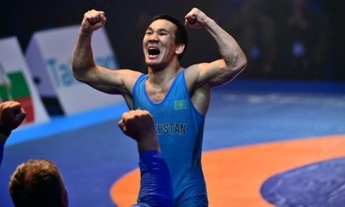 Казахстанский борец победил действующего чемпиона мира и вышел в финал ЧМ в Нур-Султане