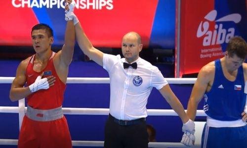 Видео боя, или Как чемпион Азии из Казахстана отправил соперника в нокдаун на старте ЧМ по боксу