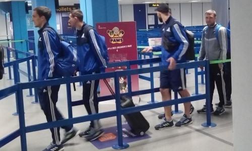 «Астана» прибыла в Манчестер на матч Лиги Европы
