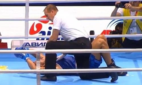Соперник взвыл от боли. Видео тяжелого нокаута казахстанского супертяжа в первом бою на ЧМ-2019