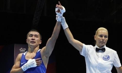 Казахстанский чемпион мира досрочно проиграл бой с рассечением узбекскому ноунейму на ЧМ-2019 по боксу