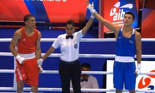 Видео победного боя вице-чемпиона Азии из Казахстана в четвертьфинале ЧМ-2019 по боксу