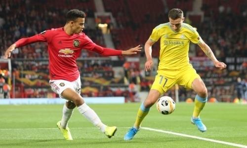 «Астана» из-за гола на 73-й минуте проиграла исторический матч «Манчестер Юнайтед» на «Олд Траффорд»