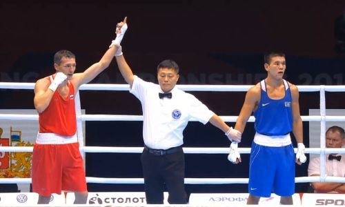 Видео боя казахстанца с российским медалистом Олимпиады за выход в финал ЧМ-2019