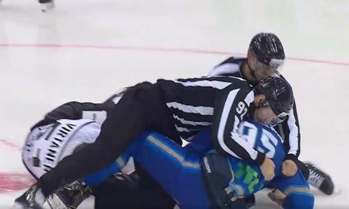 Видео драки, или Как хоккеист «Барыса» избил российского соперника в матче КХЛ