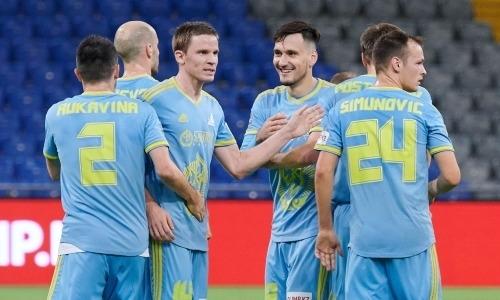 «Астана» забила с центра поля и уничтожив «Атырау» вернулась в тройку лидеров КПЛ