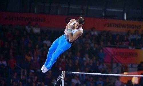 Казахстанский гимнаст завершил свое выступление на ЧМ-2019