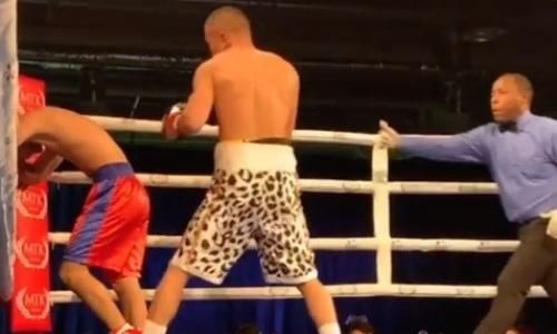Видео первого нокаута в Алматы от казахстанского чемпиона WSB с 200 боями в любителях
