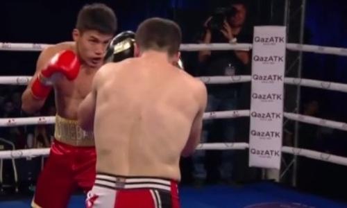 18-летний казахстанский боксер с победы дебютировал на профи-ринге в Алматы