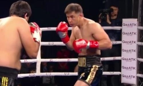 Видео нокаута казахстанского боксера в титульном бою в Алматы