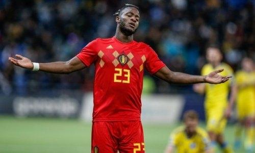 Завершился первый тайм матча Казахстан — Бельгия отбора на ЕВРО-2020. Видео