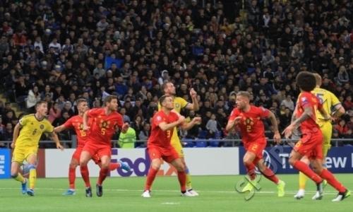 Фоторепортаж с матча отбора ЕВРО-2020 Казахстан — Бельгия 0:2