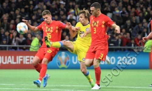 Большая разница. Сборная Казахстана дома всухую проиграла Бельгии в отборе на ЕВРО-2020