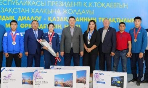 Победителей международных спортивных соревнований чествовали в Туркестанской области