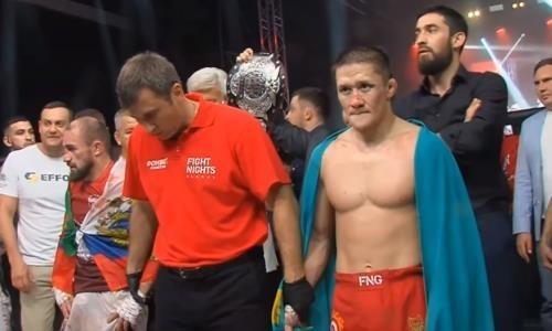 Видео полного боя, или Как казахстанец Жумагулов защитил титул чемпиона Fight Nights Global