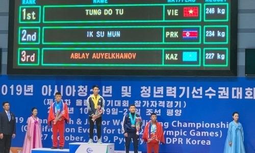 Казахстанские тяжелоатлеты завоевали первую медаль на юношеском чемпионате Азии