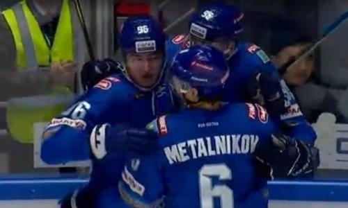 Шайба Асетова в матче «Барыс» — «Динамо» Рига вошла в ТОП-10 лучших голов недели КХЛ