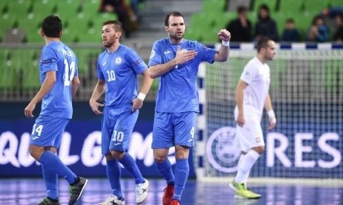 Тайнан в юбилейном матче за сборную Казахстана оформил хет-трик