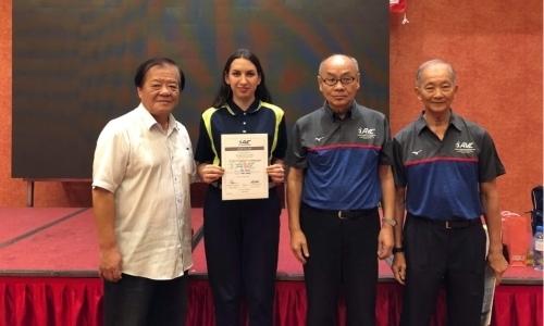 Арбитр из Казахстана получила сертификат Азиатской конфедерации волейбола