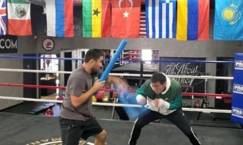 Алимханулы показал видео тренировки скорости и реакции в ринге