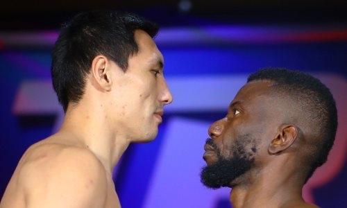 Алимханулы перевесил соперника перед боем за титулы WBC и WBO в США