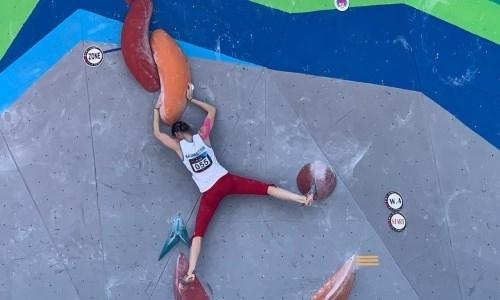 Казахстанка вышла в финал чемпионата Азии по скалолазанию в «боулдеринге»
