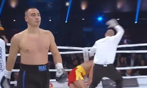 Видео полного боя, или Как супертяж из Казахстана зверским нокаутом завоевал титул IBO