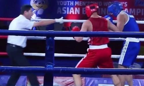 Видео двух нокдаунов и нокаута, или Как казахстанский боксер «удосрочил» иранца на молодежном чемпионате Азии