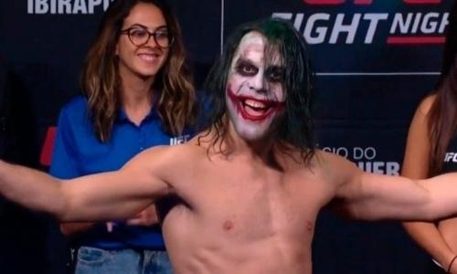 Бразильский боец UFC вышел на взвешивание в образе Джокера. Видео