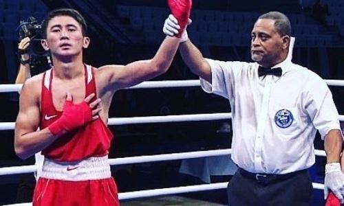Казахстанcкий боксер отправил в нокдаун чемпиона мира из Узбекистана и сразится за «золото» МЧА-2019