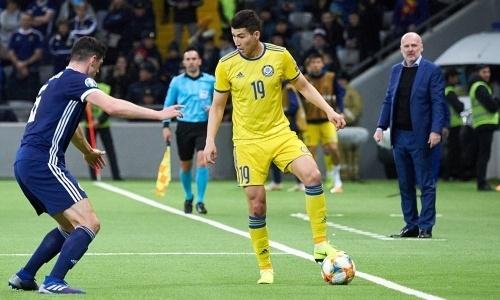 Сенсационным результатом завершился первый тайм матча Шотландия — Казахстан в отборе на ЕВРО-2020
