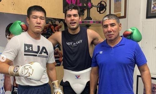 21-летний казахстанский боксер провел спарринг с экс-чемпионом мира в США