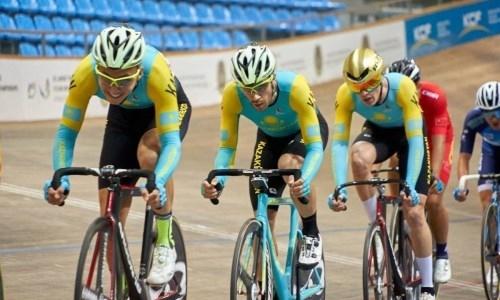 Определён состав сборной Казахстана на третий этап Кубка мира по велоспорту на треке
